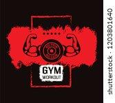 no pain no gain. gym workoun... | Shutterstock .eps vector #1203801640