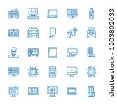 collection of 25 laptop outline ... | Shutterstock .eps vector #1203802033
