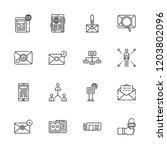 collection of 16 news outline...   Shutterstock .eps vector #1203802096