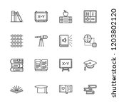 collection of 16 learning... | Shutterstock .eps vector #1203802120