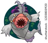 scary mutant fish with hideous...   Shutterstock .eps vector #1203803920