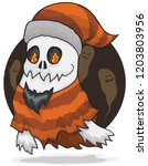 funny ghost bearded  disguised...   Shutterstock .eps vector #1203803956