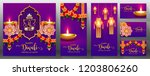 happy diwali festival card with ...   Shutterstock .eps vector #1203806260