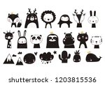 cute vector print in... | Shutterstock .eps vector #1203815536