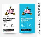 recurring deposit money app for ... | Shutterstock .eps vector #1203815986