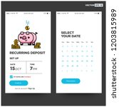 recurring deposit money app for ... | Shutterstock .eps vector #1203815989