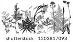 vector template with leaves and ... | Shutterstock .eps vector #1203817093