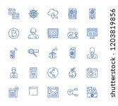 collection of 25 global outline ... | Shutterstock .eps vector #1203819856
