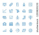 collection of 25 money outline... | Shutterstock .eps vector #1203820153