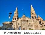 guadalajara cathedral ...   Shutterstock . vector #1203821683