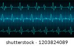 blue heart pulse monitor with... | Shutterstock .eps vector #1203824089