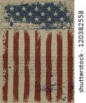 aged american patriotic... | Shutterstock . vector #120382558