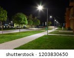 apartment quarter at night with ... | Shutterstock . vector #1203830650