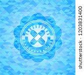 crossed bandage plaster icon... | Shutterstock .eps vector #1203831400