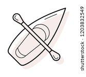 canoe   boat  paddle   | Shutterstock .eps vector #1203832549