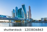Moscow City Skyline And...