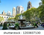 The Fountain In Bryant Park ...