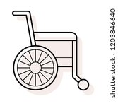 wheelchair   disability  ...   Shutterstock .eps vector #1203846640