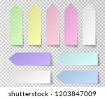 post sticky note isolated. set... | Shutterstock .eps vector #1203847009