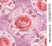 seamless pattern. decorative... | Shutterstock . vector #1203847270