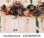 vintage wedding decor.... | Shutterstock . vector #1203848920