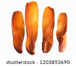 brown mahogany seed on white... | Shutterstock . vector #1203853690