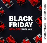 black friday sale poster with...   Shutterstock .eps vector #1203856309