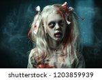 a close up portrait of a scary... | Shutterstock . vector #1203859939
