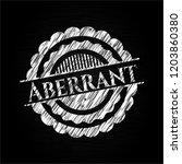 aberrant chalk emblem written... | Shutterstock .eps vector #1203860380