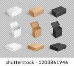 packages and carton boxes... | Shutterstock .eps vector #1203861946
