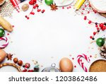 christmas or new year... | Shutterstock . vector #1203862486