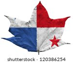the panama flag painted on... | Shutterstock . vector #120386254