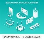 blockchain bitcoin platform... | Shutterstock .eps vector #1203862636