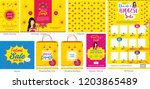 diwali festival offer big sale... | Shutterstock .eps vector #1203865489