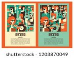 Retro Party Poster. Vector...