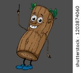 log with a face. vector...   Shutterstock .eps vector #1203874060