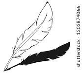 feather pen. vector...   Shutterstock .eps vector #1203874066