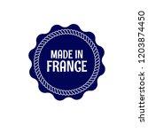 made in france badge. vintage... | Shutterstock .eps vector #1203874450