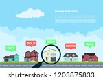 house selection infographic... | Shutterstock .eps vector #1203875833