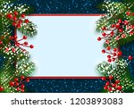 new year. christmas. postcard ... | Shutterstock . vector #1203893083