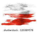 The polish flag painted on...
