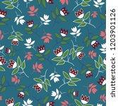 vector blue green winter folk... | Shutterstock .eps vector #1203901126