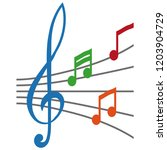 simple musical note symbol ... | Shutterstock .eps vector #1203904729