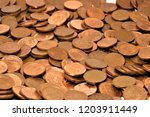 Pile Of One Euro Cents.