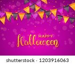 lettering happy halloween on... | Shutterstock .eps vector #1203916063