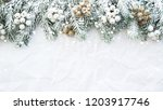 christmas background with xmas... | Shutterstock . vector #1203917746