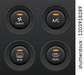 air conditioner buttons set.... | Shutterstock .eps vector #1203918289