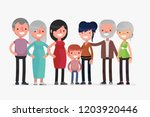 cute families isolated vector... | Shutterstock .eps vector #1203920446