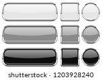 glass buttons with chrome frame.... | Shutterstock . vector #1203928240