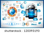 infographic with cloud...   Shutterstock .eps vector #120393193